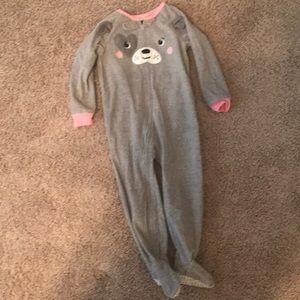 Carter's 3T Toddler Footie Pajamas PJs Gray Dog 🐶